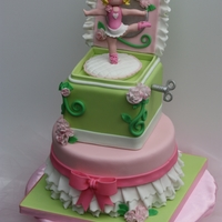 Ballerina Jewelry Box  I made this cake Washington's Evergreen State Fair cake competition. The ballerina, flowers, key, and other decorations are hand...