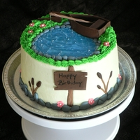 Fishing Themed Birthday Cake