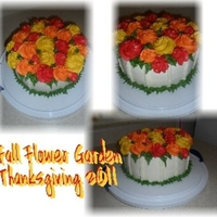 Fall Rosettes fall colored rosettes on a white base. cake is pumpkin wasc with pumpkin fluff filling, buttercream.. Thanks for all the inspirations for...