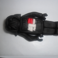 Lego Darth Vader Figure My first fondant figure. Lego Darth Vader, he doesn't have his cape yet But so far so good, and I'm pleased, lol