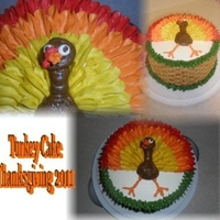 Turkey Cake I've seen so many cute turkey cakes and was dying to try one, so thanks for all the great ideas cc :)