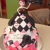 Draculaura Doll Cake I got my inspiration from a couple monster high cakes here on cakecentral I forget the names, but you all rock!!! lol and made my lil girl...