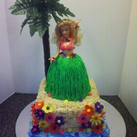 Luau Barbie Cake