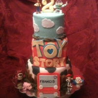Toy Story Cake This cake was done off a picture that my friend had sent me. Don't know where she got it, but I think it's pretty close. The...