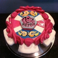Beyblade Cake aries beyblade birthday cake upon request of my 6 y.o. son. i guess it turned out right - sorta hard to tell. he seemed excited - so did...