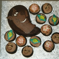 Scooby Doo Chocolate scooby doo, and cupcakes topped with fondant dog tags, pizzas and hot dogs. chocolate hazelnut cake. thanks for looking