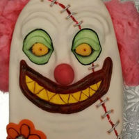 Creepy Clown With Staples Across The Face Mmfedible Food Dusts Cotton Candy Hair creepy clown, with staples across the face, mmf,edible food dusts, cotton candy hair