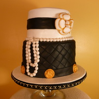 My Black & White Chanel Cake  After making a few surprise cakes for friends and family, I decided to decorate one for my birthday. Got the inspiration from Lisa Bugeja/s...