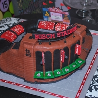 Busch Stadium 3D sculpted cake of Busch Stadium