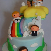 Baby Star Wars Shower Cake Baby Star Wars theme baby shower cake. Characters are made from sugar paste. The star is a layered sculpted cake as well as the rainbow...