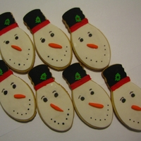 Snowmen Light Bulbs