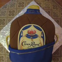 Crown Royal, Bahbey! Made this for a friend's new hubby. I almost cried when she gave it to him at the wedding. He was so excited. He carried it around the...