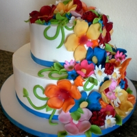 Flower Girl Dress Wedding Cake