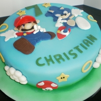 Sonic And Mario Cake