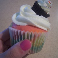 Cupcake Cupcake Topper! Tie dye cupcakes with buttercream, yum!