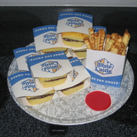 Anyone For A Slider? I made this for my husband's birthday (he is from NY). The boxes are paper but the rest is cake, including the fries! He was so...