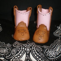 Cowgirl Boots gumpaste cowgirl boots. credit to kathy's custom cakes for template!