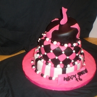 Sweet 16 sweet 16 cake, 10, 8 and 6 inch