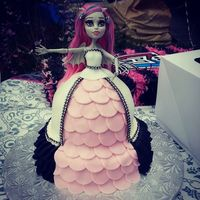 Monster High Doll Dress Cake Monster High Doll with the cake made into her dress.