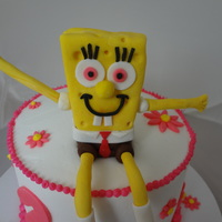 Sponge Bob Made Of Fondant And Gum Paste sponge bob. made of fondant and gum paste
