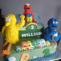 Sesame Street Cake For William I made this cake for my cousin's 2 year old son. They requested an Elmo cake for their Sesame Street party. I did a trial run cake and...