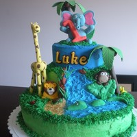 Luke's Jungle Cake I made this cake for my friend's son;s 1st birthday. I didn't realize that she was having the party at the local zoo. I was very...