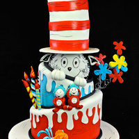 Cat In The Hat Cake - Dr.seuss Cake