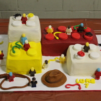 Indiana Jones Lego WASC cake with buttercream icing. Most of the lego men are candy melts in a mold made by my friend and her son that I made this for. I made...