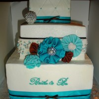 Buttercream With Fondant Accents And Satin Ribbon Buttercream with fondant accents and satin ribbon