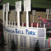 Great American Ballpark Grooms cake of the cincinnati reds stadium
