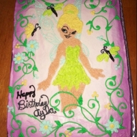 Tinker Bell Cake A Tinker Bell cake for my daughter.
