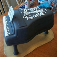Baby Grand Piano My daughter asked for this cake for her Choir Pianist at school. The entire class pitched in to surprise him. My hubby made my cake stand...