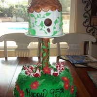 Birdhouse Cake I made this one for an elderly gentleman's 95th birthday because he likes to make birdhouses. The birdhouse itself is completely...