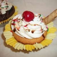 Ice Cream Sundae Cupcakes These were made for a friend with no preferences as to design. So I decided to have fun with them AND my 17 yr old daughter did most of the...