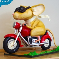 The Mouse And The Motorcycle Armature Cake