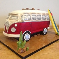 Vw Camper Van Cake Van feeds 30. Mod choc, fondant, isomalt, dust, Lemon extract.