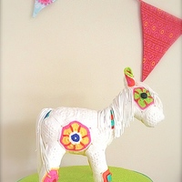 Crochet Horse Cake made with our new set of crochet moulds