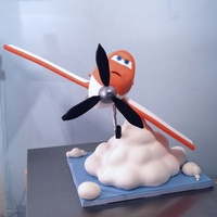 Dusty From Planes 3D Armature Cake With Making Of Pics