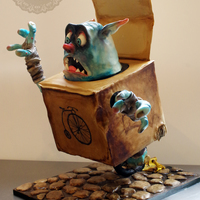 Boxtroll Extreme Armature Cake Boxtroll cake based on the wonderful Boxtroll movie just out.