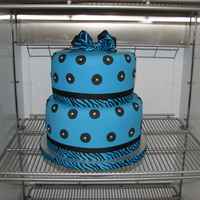 Zebra Ribbon Cake