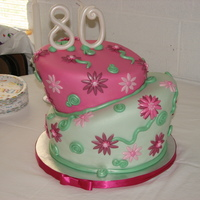 80Th Topsy Turvy Cake