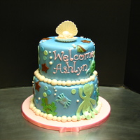 Sea Babies Shower Cake