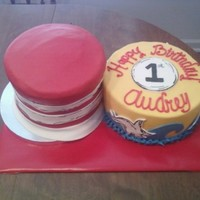 Dr. Suess Birthday The hat is chocolate cake with chocolate cream cheese filling. The cake is white cake with strawberry cream cheese filling. Both covered in...