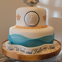 Fair Winds And Following Seas Cake requested for a friends Navy deployment