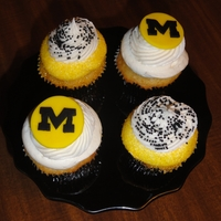 Go Mu! Cupcakes made for a special 18th birthday. He loves MU!