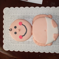 Brittany's Baby Shower First attempt at fondant