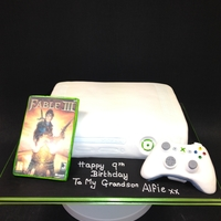 Xbox xbox is cake and control and game is icing