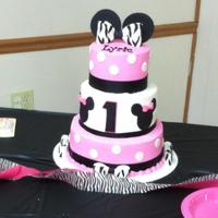 Pink And Zebra Minnie Mouse *