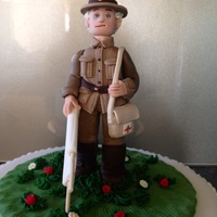 Topper Made For Hubbys Work Of An Old Style Ww1 Army Medic He Is Carrying A Stretcher Not A Good Photo Angle topper made for hubbys work of an old style ww1 army medic he is carrying a stretcher not a good photo angle