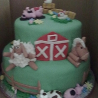 Farm Animals The customer sent me a photo of a similar cake. This is what we did.